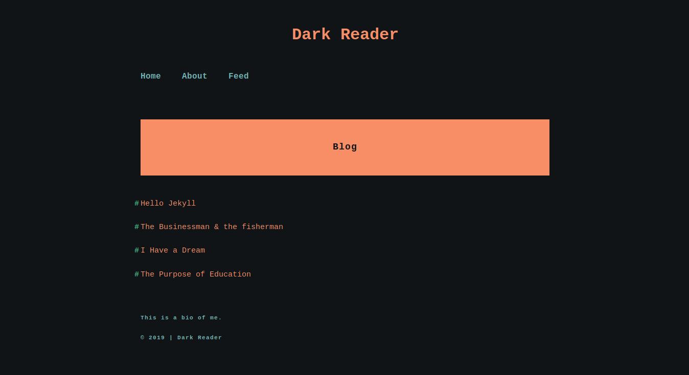 Dark Reader Jekyll Theme